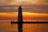 Frankfort Light at Sunset: D-169