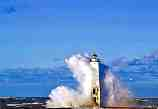 Breaking Wave Over Frankfort Light: G-225