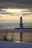 Frankfort Light on a Winter Day: J-556